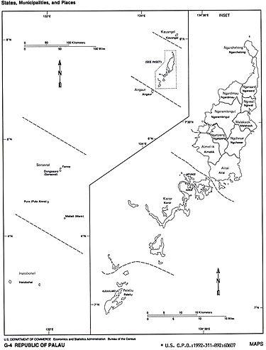 Palau Wikipedia - Palau map