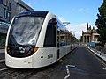 Stationary Edinburgh tram, Princes Street (geograph 1949553).jpg