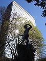 Statue of Peter Pan in Gardens of D'Egmont, Brussels.JPG
