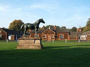 Persimmon (horse) - Statue of Persimmon at Sandringham