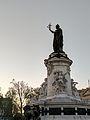 Statue of the Place de la République at sunset.jpg