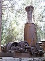 Steam donkey at Sierra Nevada Logging Museum 2017-06-30.jpg