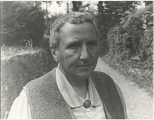 "Gertrude Stein at ""Les Charwelles,"" ..."