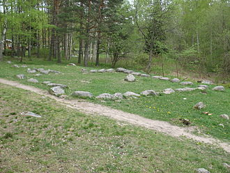 Arkils tingstad - The stone formation.