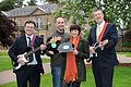 Stephen Farry, Andrew Ferris, Stacey Sharples, John O'Dowd.jpg