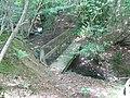 Steps down bank to footbridge over Marlpost Gill - geograph.org.uk - 1417396.jpg