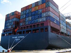 United Kingdom commercial law - Goods being transported by container ship.