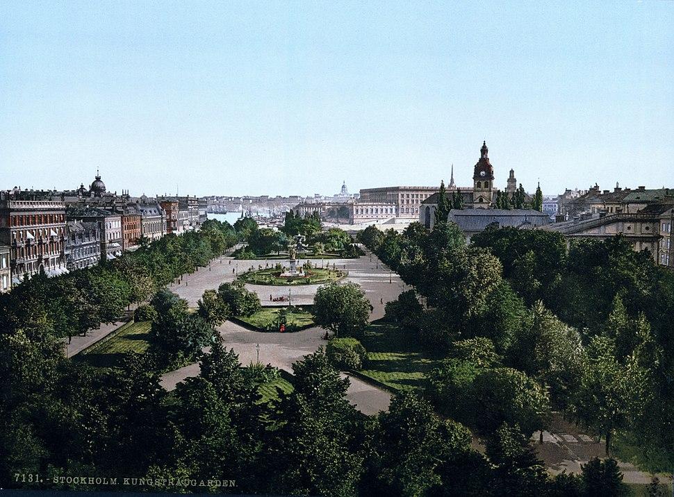 Stockholm Kungsträdgården (1890-1900)