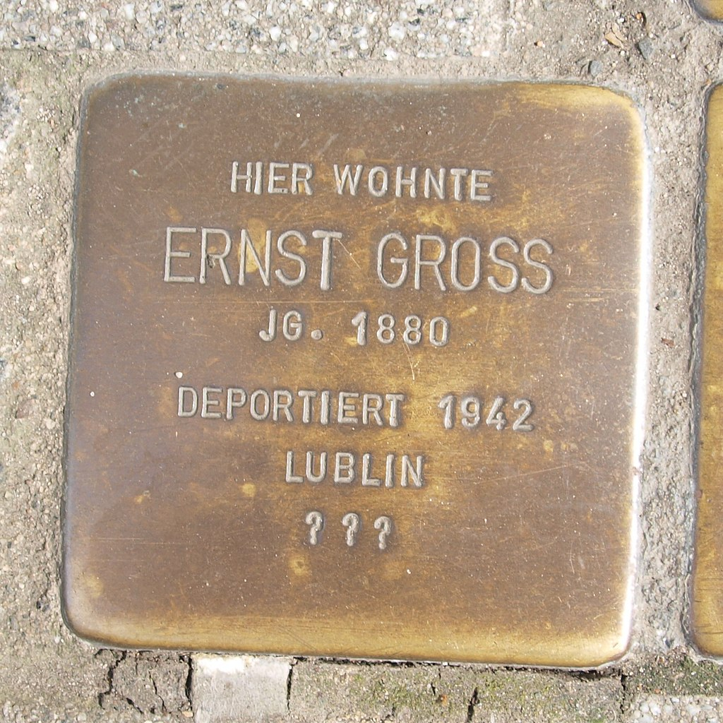 Stolperstein Bingen Gaustraße 11 Ernst Gross.jpg