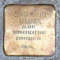 Stolperstein Bremen St Stephani - Ernst Moritz Abraham - 1911.jpg