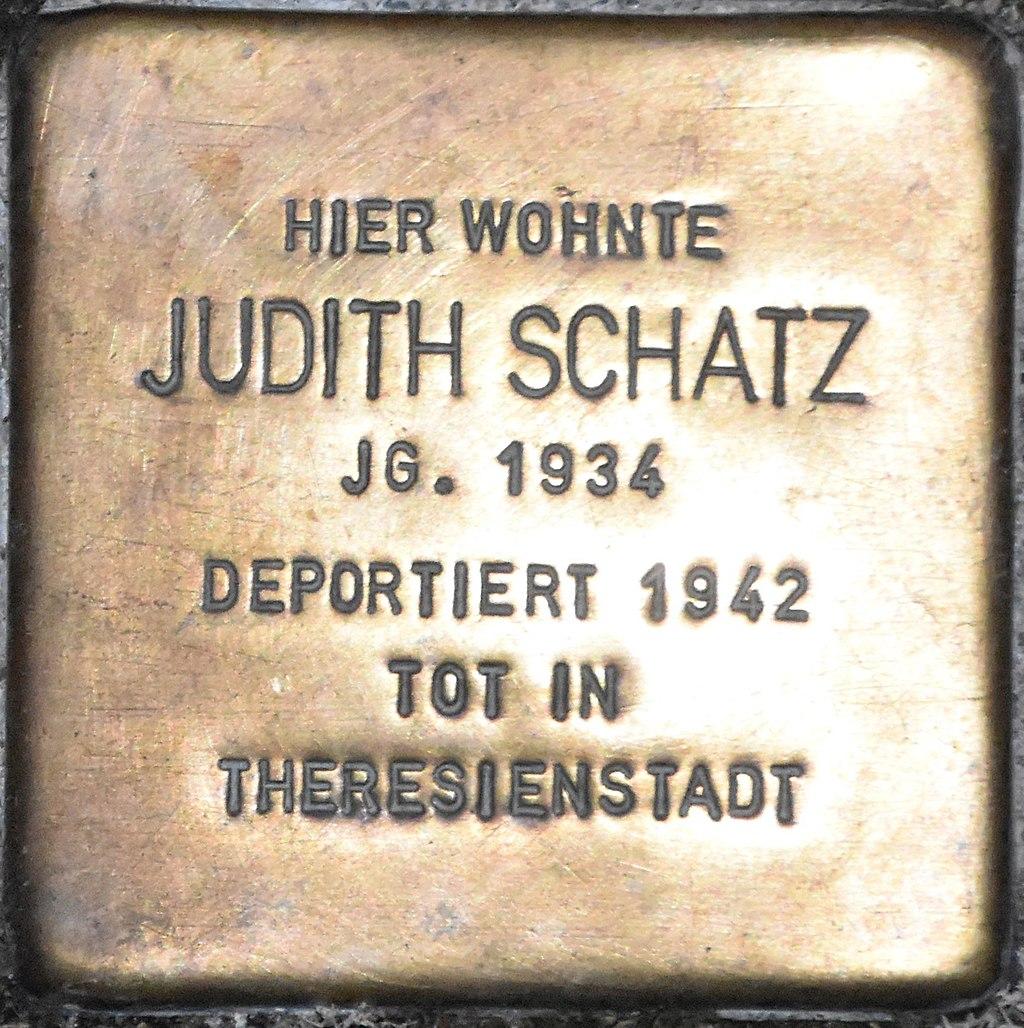 Stolperstein Güstrow Krönchenhagen 13 Schatz Judith