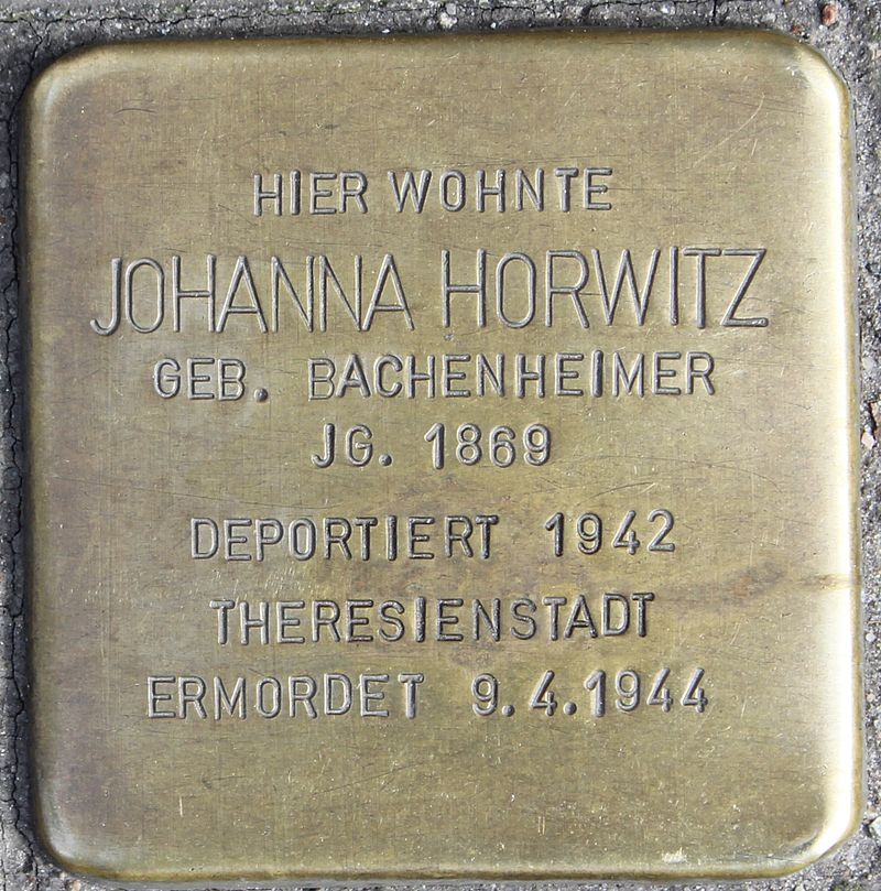 Stolperstein Harburger Rathausstraße 45 (Johanna Horwitz) in Hamburg-Harburg.jpg