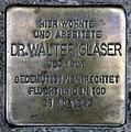 Stolperstein Heinrich-Roller-Str 23 (Prenz) Walter Glaser.jpg