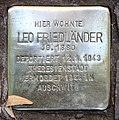 Stolperstein Helmstedter Str 10 (Wilmd) Leo Friedländer2.jpg