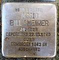 Stolperstein Karlsruhe Ingrid Billigheimer Jollystr 41 (fcm).jpg