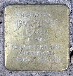 Photo of Isaac 'Eugen'  Lesser brass plaque