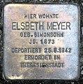 Stolperstein Sächsische Str 6 (Wilmd) Elsbeth Meyer.jpg