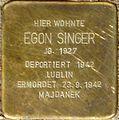 Stolperstein Salzburg, Egon Singer (Franz-Josef-Straße 9).jpg