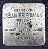 Stolperstein Sentastr 3 (Fried) Selma Friedmann.jpg