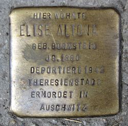 Photo of Elise Altona brass plaque