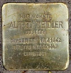 Photo of Alfred Zeidler brass plaque