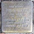 Stolperstein Willmanndamm 6 (Schöb) Frieda Wolff.jpg