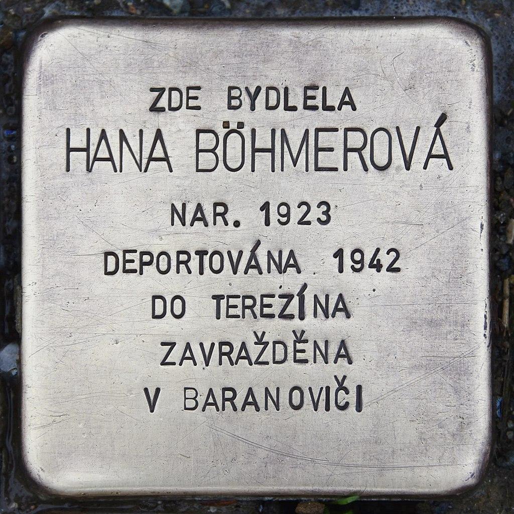 Stolperstein für Hana Böhmerová.JPG
