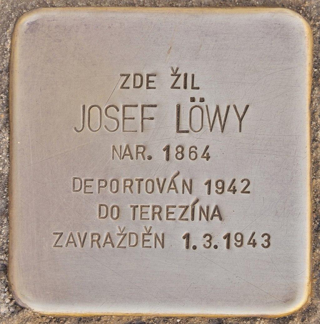 Stolperstein für Josef Löwy (Horaždovice).jpg