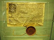 Ablassbrief von 1513 (Kulturhistorisches Museum Stralsund) (Quelle: Wikimedia)