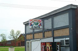 The 7-Up Cafe in Strandquist