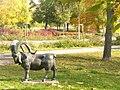 Strausberg - Steinbockskulptur (Mountain Goat Sculpture) - geo.hlipp.de - 29618.jpg