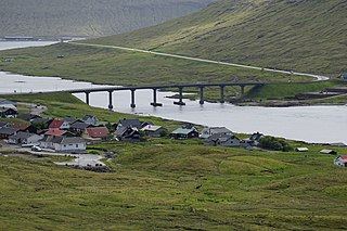 Streymin Bridge bridge at Faroe Islands