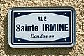 Stroosseschëld Rue Sainte-Irmine - Eengaass, Iechternach-101.jpg
