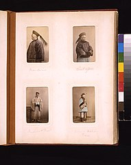 Studio portraits of a Chinese bureaucrat (mandarin), a civil officer, a Buddhist priest and a woman LCCN2011660100.jpg