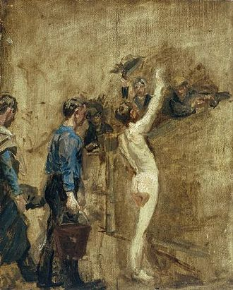 Salutat - Oil-on-canvas study for Salutat, 1898, 20 1/8 x 16 1/8 inches; 51 x 41 cm., Carnegie Museum of Art, Pittsburgh, Pennsylvania