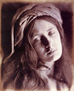 "Beatrice Cenci - ""Beatrice Cenci"" (1866), a study for a photographic series devoted to Cenci by Julia Margaret Cameron"