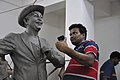Subimal Das Making Raj Kapoor Sculpture - Kolkata 2017-08-08 4167.JPG