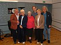 Sue MacGregor with Anna Wing, Wendy Richards, Leslie Grantham, Bill Lyons and Jonathan McLeish.jpg