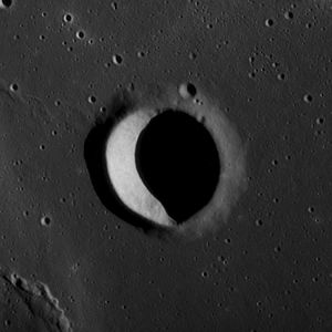 Suess (lunar crater) - Image: Suess F crater AS12 54 8112