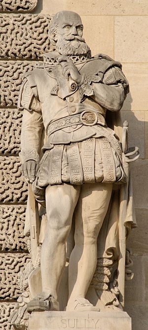 Maximilien de Béthune, Duke of Sully - Statue of Sully at the Palais du Louvre, Paris.