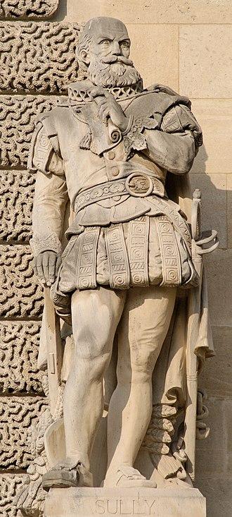 Maximilien de Béthune, Duke of Sully - Statue of Sully at the Palais du Louvre, Paris.