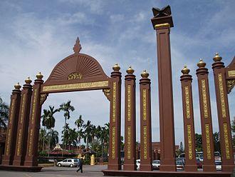 Kelantan Sultanate - The Sultan Ismail Petra Arch in Kota Bharu