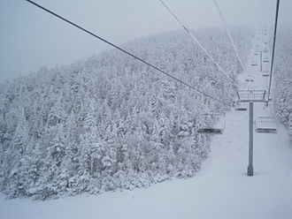 Sugarbush Resort - Ascending toward the summit of Mt. Ellen the morning after an 8-inch snowfall. Photo taken Dec 23 2010.
