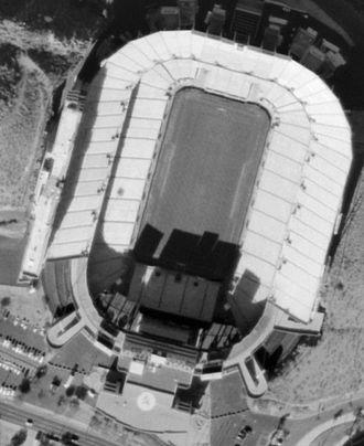Sun Devil Stadium - Satellite image in 2002