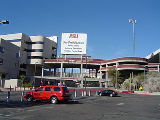 Sun Devil Stadium - Sun Devil Stadium at the southeast entrance