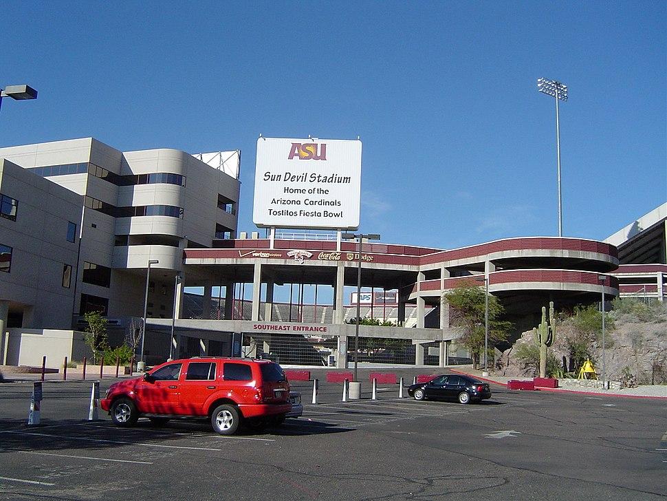 Sun Devil Stadium in Tempe Arizona