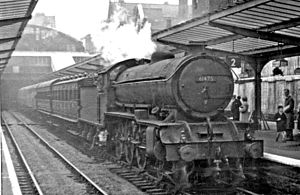 Sunderland station - Newcastle - Middlesbrough express in 1953