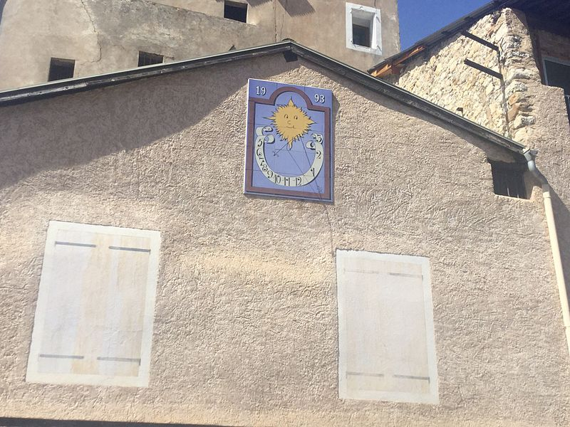 A sundial found in Veynes, France.