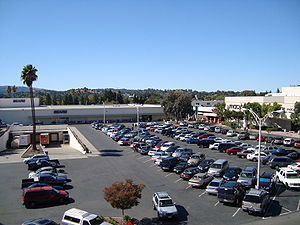 Sunvalley Shopping Center - Northeast side of mall from parking structure