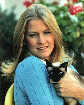 "Susan Ford - Susan Ford and Siamese cat ""Shan Shein"" at the White House in 1974"
